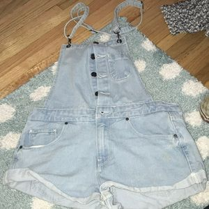 jean short overall